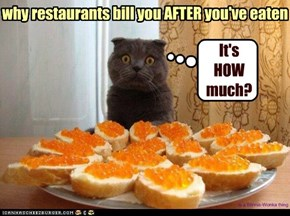 why restaurants bill you AFTER you've eaten