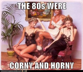 THE 80s WERE  CORNY AND HORNY