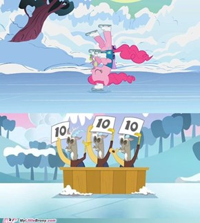 Pinkie on ice