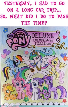 Pencils and a MLP Colouring Book, of course!