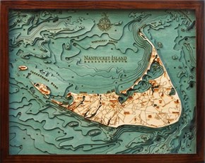 Underwater Topographical Laser Cut Maps