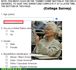 College survey: Not for graduates or seniors.