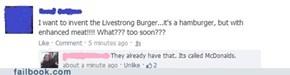 Livestrong Burger