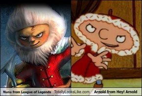 Nunu from League of Legends Totally Looks Like Arnold from Hey! Arnold
