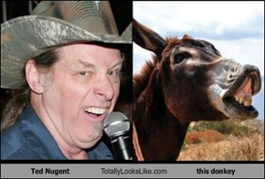 Ted Nugent Totally Looks Like this donkey
