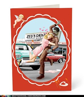 Zombie Valentine's Day Cards