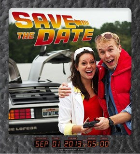 Back to the Future Save the Date