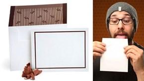 Chocolate Envelope Adhesive Makes Mail Tasty