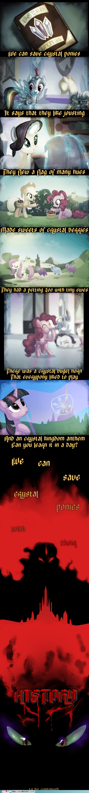 Saving the crystal ponies