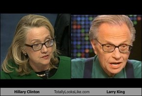 Hillary Clinton Totally Looks Like Larry King