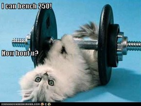 I can bench 250! How bout u?