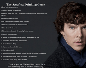 Sherlock the Drinking Game