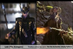 Loki (The Avengers) Totally Looks Like Tim the Enchanter (Monty Python)