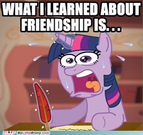 What I leared in ponyville is...
