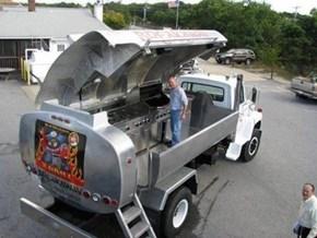 Oil Truck Into Grill