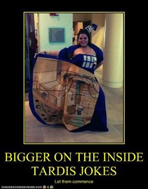BIGGER ON THE INSIDE TARDIS JOKES