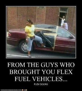FROM THE GUYS WHO BROUGHT YOU FLEX FUEL VEHICLES...