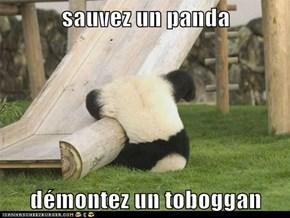 sauvez un panda  démontez un toboggan