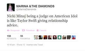 "Marina Says ""Can I Be Famous Too?"""