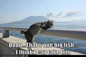 Oooo...That's one big fish...           I think I can take him