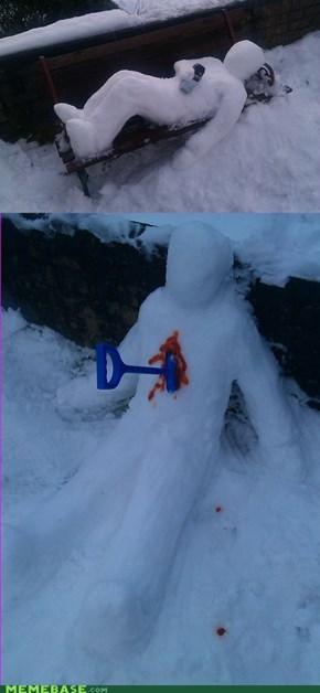 Innocent Fun in the Snow