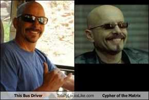This Bus Driver Totally Looks Like Cypher of the Matrix