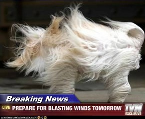 Breaking News - PREPARE FOR BLASTING WINDS TOMORROW