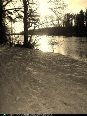 Sundown on a Snowy River trail...