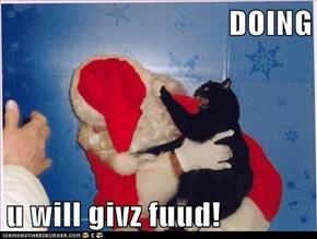 DOING  u will givz fuud!