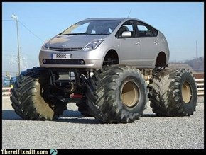 Go home Prius, you're drunk again...