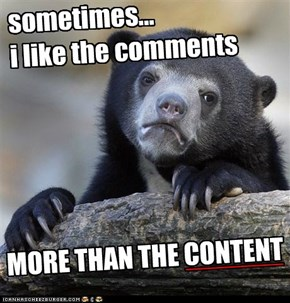content vs. comments