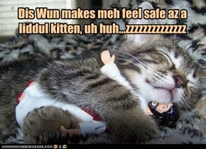 Dis Wun makes meh feel safe az a liddul kitten, uh huh...zzzzzzzzzzzzzz
