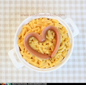 Mac and cheese for Valentine's Day