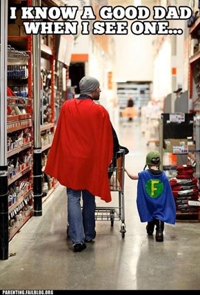"The Adventures of Super-Dad and His Sidekick ""F"""