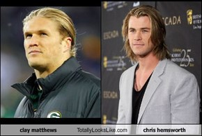 clay matthews Totally Looks Like chris hemsworth