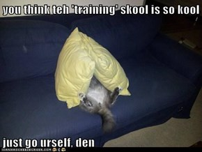 you think teh 'training' skool is so kool  just go urself, den