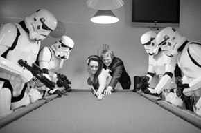 Anyone Can Beat a Stormtrooper at Pool, They Never Hit Anything!