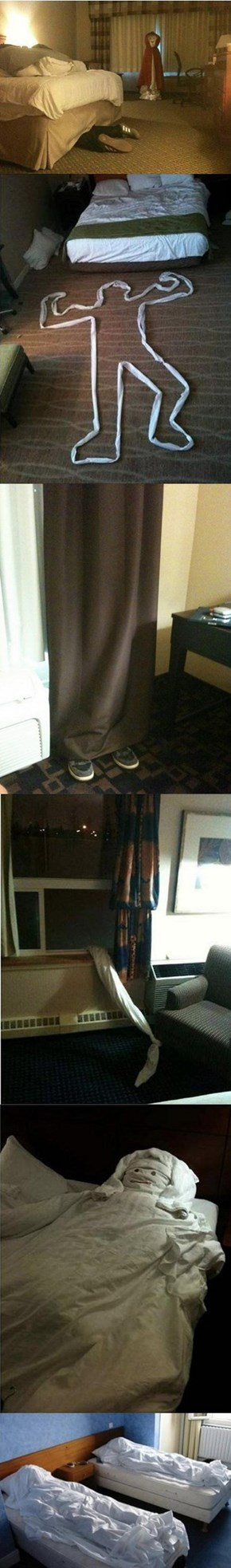 Hotel Room Pranks to Leave for the Maids