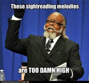 These sightreading melodies
