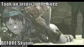 Took an arrow to the knee  BEFORE Skyrim