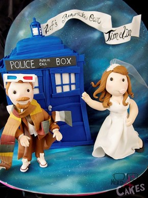 Every Whovian's Dream Proposal Cake