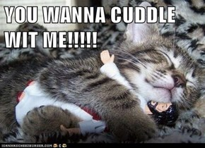 YOU WANNA CUDDLE WIT ME!!!!!