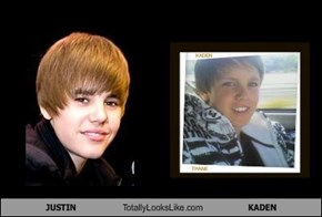 JUSTIN Totally Looks Like KADEN