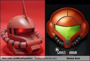 Char's Zaku (mobile suit gundam) Totally Looks Like Samus Aran