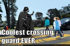Coolest crossing guard EVER.