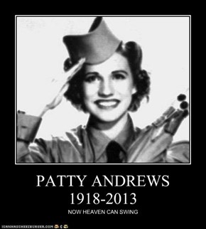 PATTY ANDREWS 1918-2013