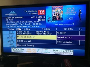 TV Lineup FAIL