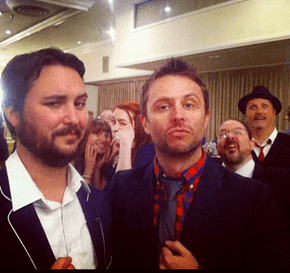 Wheaton and Hardwick Photobomb