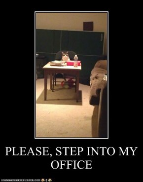 PLEASE, STEP INTO MY OFFICE