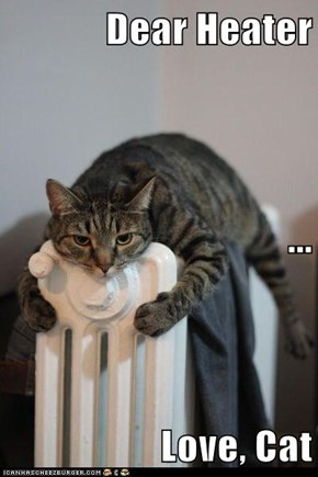 Dear Heater ... Love, Cat